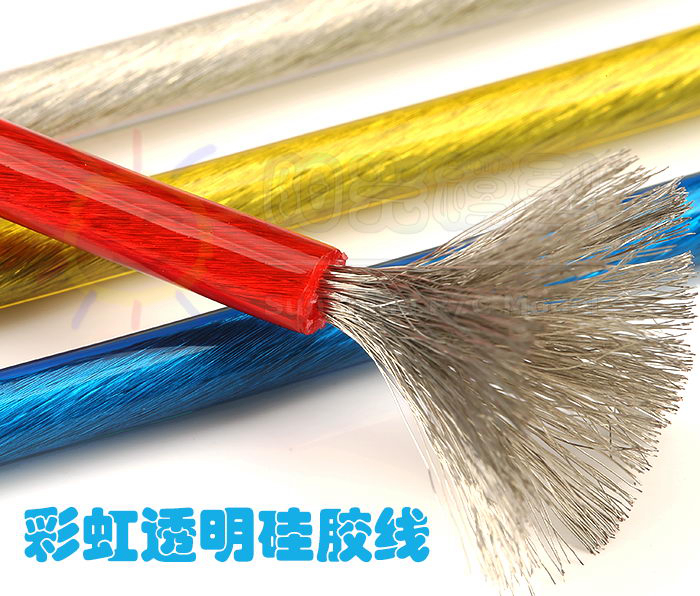 2016 NEW UL 3135 Transparent 12AWG Silicone wire silica gel wires Conductor construction temperature Tinned copper