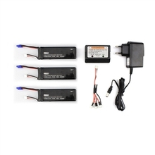 3 Pcs 7.4V 2700mAh 10C Battery & Charger Set for Hubsan H501S X4 RC Quadcopter