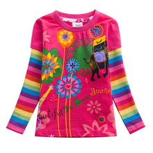Girls T-shirts for Children T-Shirts For Girls Tshirts Long Sleeve kids Tops Girl Clothes 2019 Toddlers Tees Girl t-shirt L328 стоимость