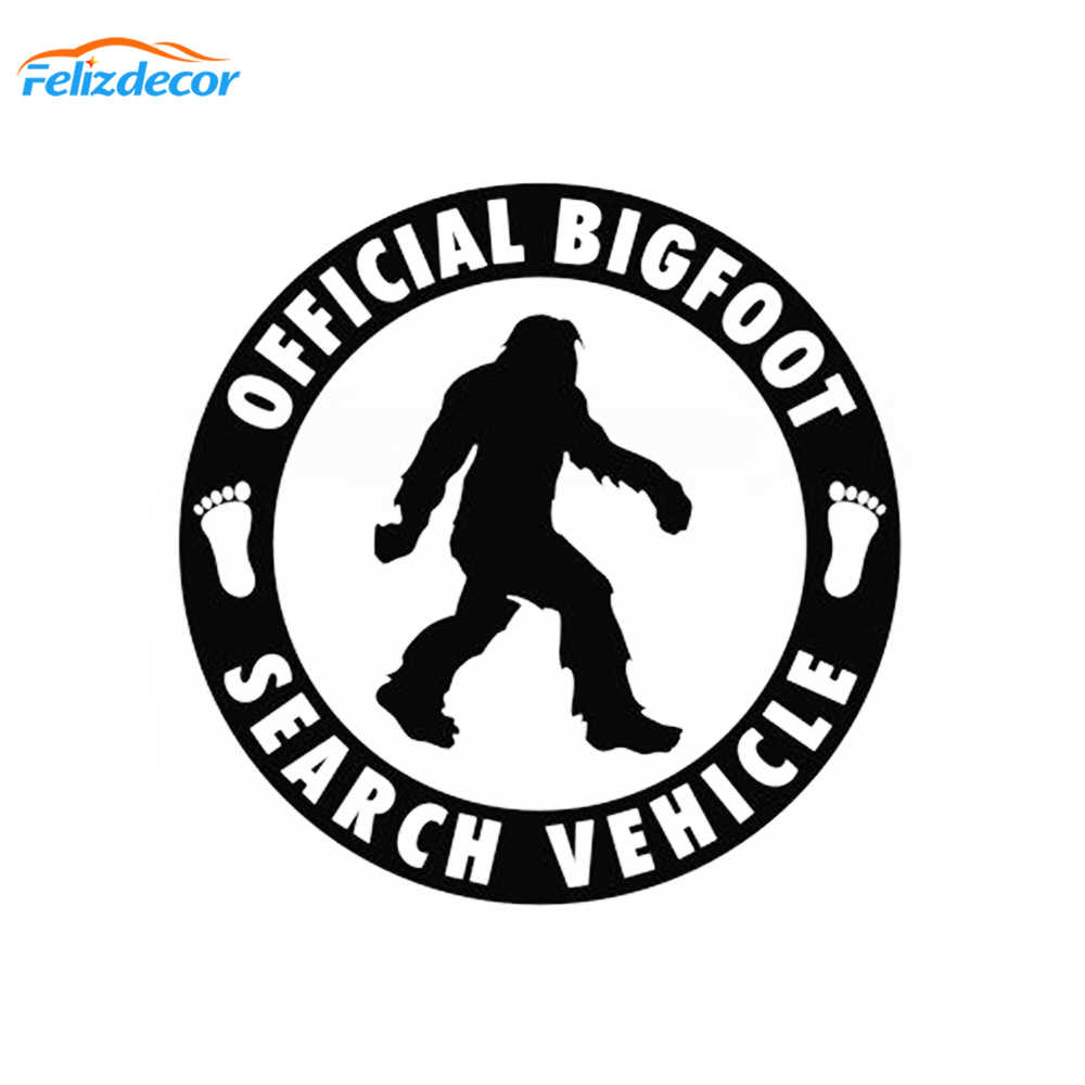 12*12 cm Officiële Bigfoot Zoeken Voertuig-Auto Sticker Vinyl Decal Sasquatch Auto Vrachtwagen Laptop Notebook Art Decor patroon Teken L975