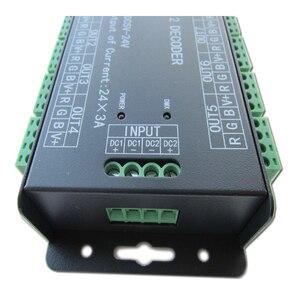 Image 5 - وحدة تحكم عالية الطاقة 24 قناة 3A/CH DMX512 Led فك باهتة DMX 512 RGB LED قطاع تحكم DMX فك باهتة سائق ل