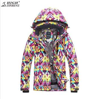 High Experience Women Winter Ski Jacket  Waterproof Snowboard Jacket Outdoor Mountain Skiing Jacket Sport Coat Brand