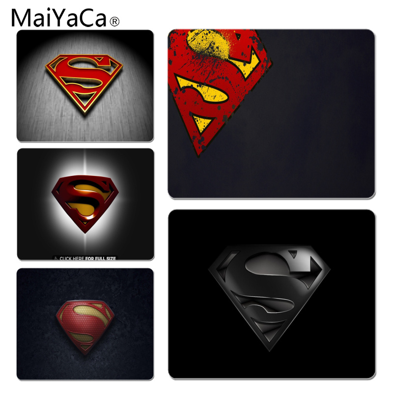 MaiYaCa Superman Logo Large Mouse pad PC Computer mat Size for 18x22x0.2cm Gaming Mousepads