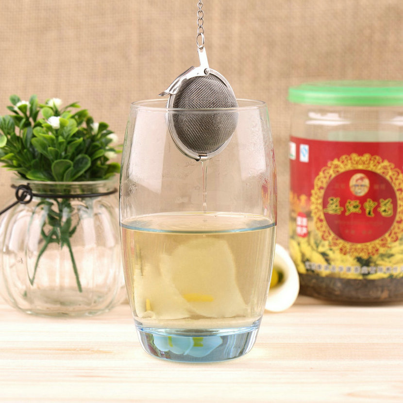 1 Pc 2019 New Stainless Steel 5/4.5 Cm Diameter Kettles Infuser Strainer Tea Locking Spice Egg Shaped Ball Kitchen Cooking Tools