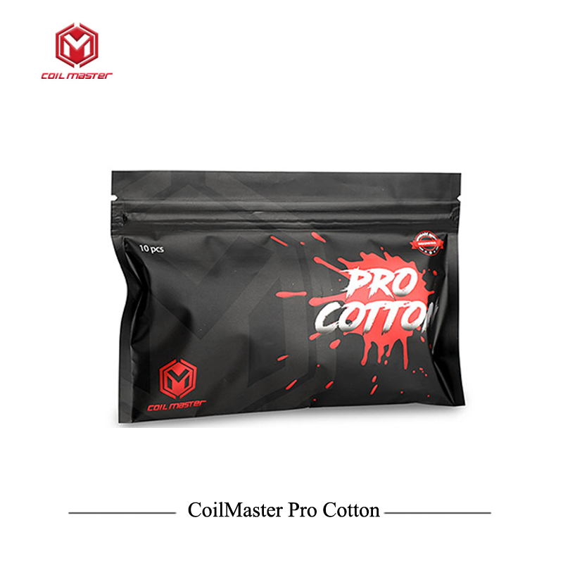 Considerate 10pack/lot Original Coil Master Pro Cotton High-quality Coilmaster Cotton Dedicated For Vaping 100% Indonesian Organic Cotton Electronic Cigarettes Electronic Cigarette Accessories