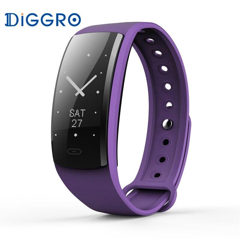 Diggro QS90 <font><b>Bluetooth</b></font> <font><b>Smart</b></font> Браслет Heart Rate Мониторы сообщение IP67 здоровья спортивных ES RU de Фитнес Andriod IOS браслет