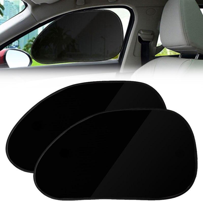 Vehemo 2 шт. статические цепляются лобовое стекло солнцезащитные шторы для машины Солнцезащитная УФ шторка Защита прочный лобовое стекло автомобиля авто солнцезащитный козырек