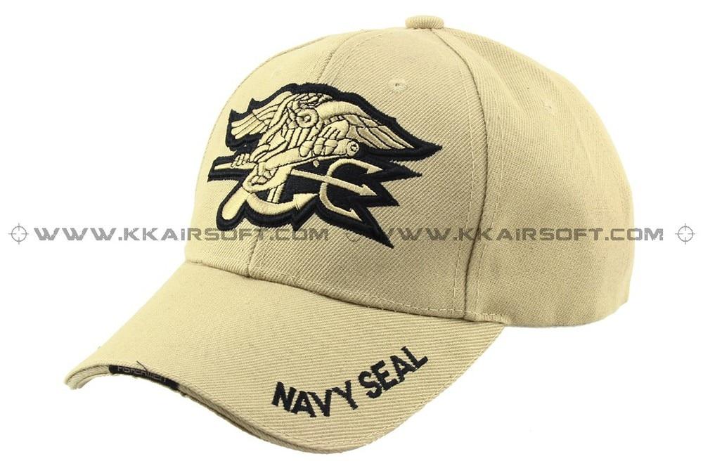 Бейсболка и шляпа темно-синяя печать логотип Тан [CP-13-TAN] Спортивная Кепка - Цвет: TAN
