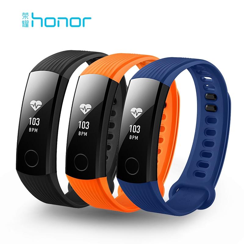 Huawei Honor Band 3 Smart Wristband in tempo Reale Monitoraggio della Frequenza Cardiaca 5ATM Impermeabile per il Nuoto Fitness Tracker per Android iOS
