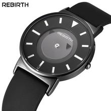 Conceito de RENASCIMENTO Homens Mulher Relógio De Quartzo Ultra-fina Relógios de Marca Transparente Ponteiro Preto Silicone Strap Moda de Nova relógio de Pulso