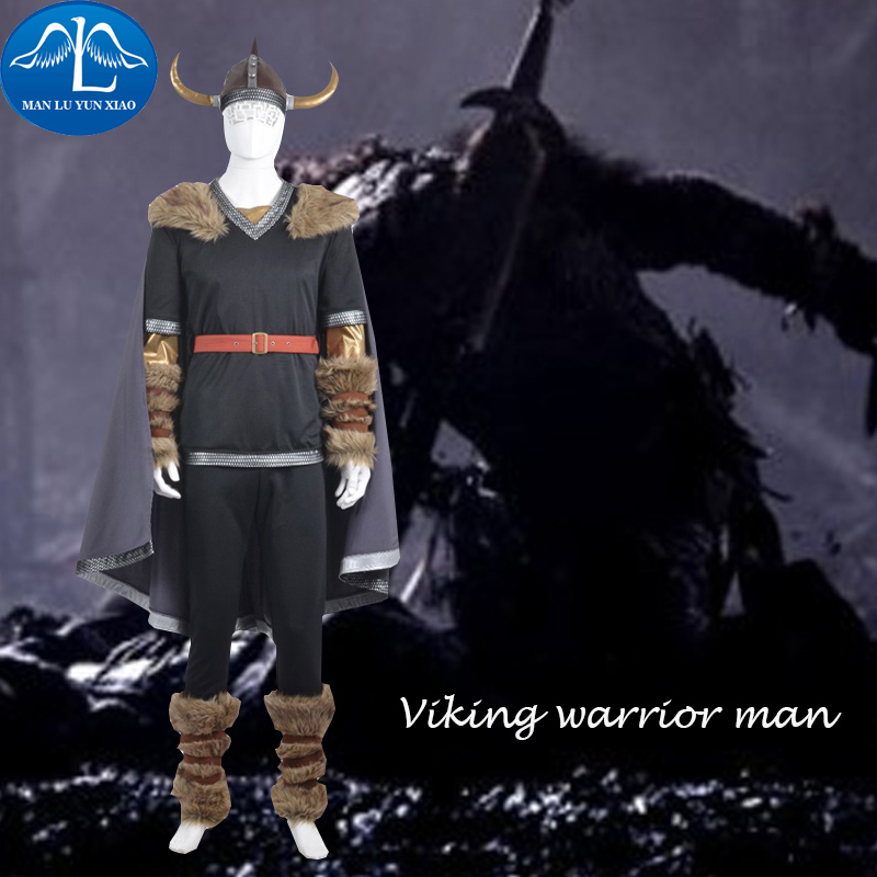 MANLUYUNXIAO Men's Outfit Viking Warrior Cosplay Costume For Men Halloween Party Cosplay Costume For Men Factory Price Wholesale