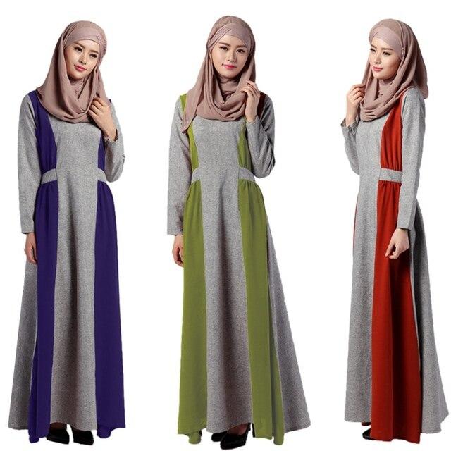 Плюс Размер Мусульманин Платье С Длинным Рукавом Абая Дубай Турецкая Одежда Для Женщин Vestidos