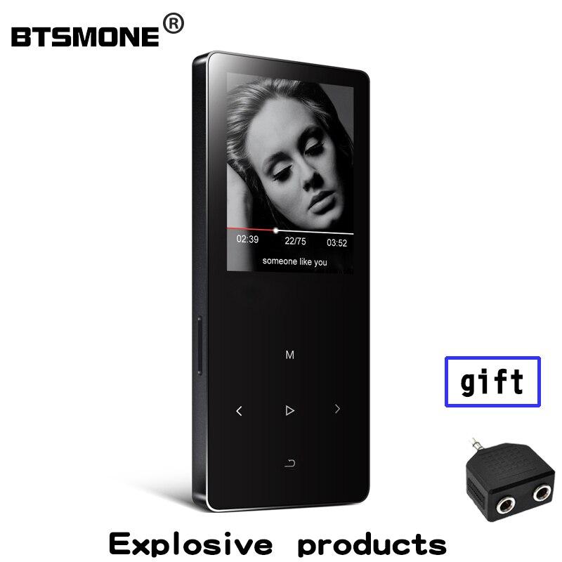 Btsmone X2 mp3 плеер со встроенным 8 ГБ и динамик расширить память до 128 ГБ 3,5 мм выход для наушников подходит для Бег
