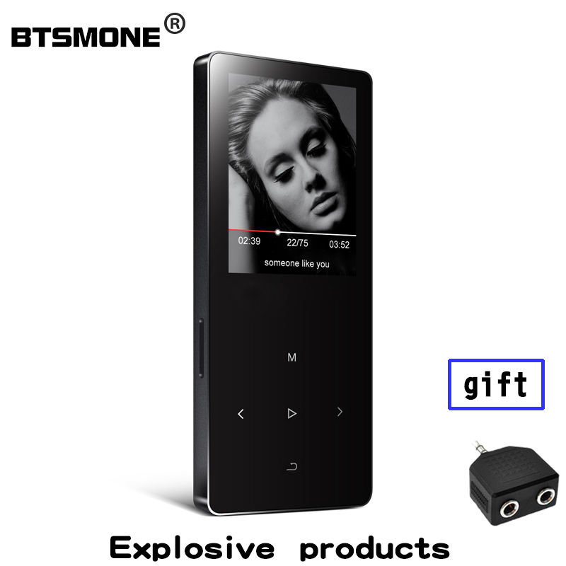Btsmone X2 mp3 music player with built-in 8GB and speaker expand memory up to 128GB 3.5 mm headphone output Suitable for running