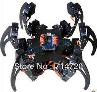 Hexapod robot kit with 18 servos and 32 channel servo motor control driver board