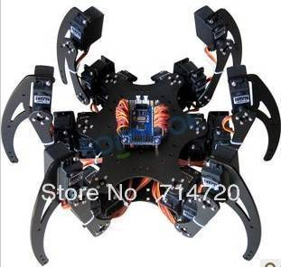 цена Hexapod robot kit with 18 servos and 32-channel servo motor control driver board