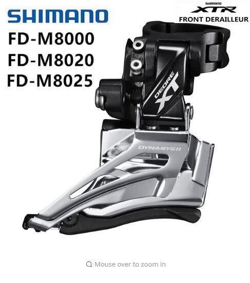 Dérailleur avant SHIMANO XT M8000 FD M8020 M8025 dérailleurs avant vélo de montagne 33 vitesses 22 vitesses
