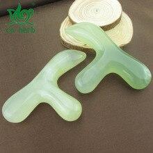 Cn Herb Natural jade massage sticks Acupressure Acupoints Body stickers