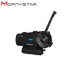 R2 1200m Bluetooth Intercom Headset Freisprecheinrichtung Wasserdichte Motorrad Sprech Unterstützung Stereo Musik/audio