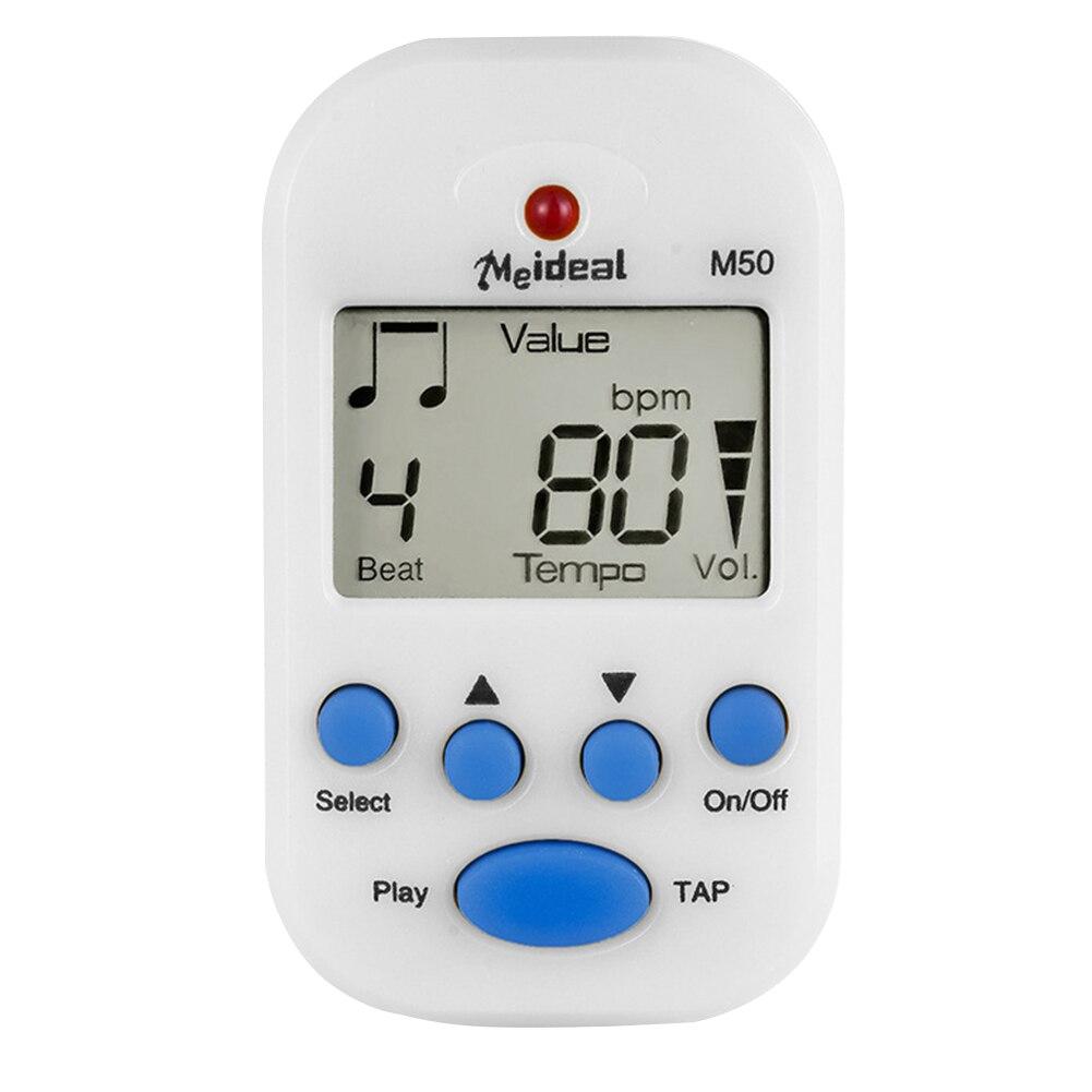 M50 Rhythm Violin Mini Guitar Digital Tuner Pitch Generator Piano Metronome Accessories Portable Clip On Universal LCD Display