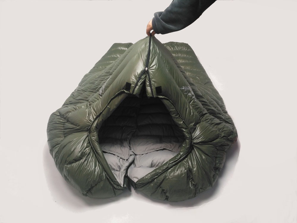 Image 3 - Winter Sleeping Bag Cold Temperature Sleeping Bag for Winter, Army Green Duck Down Filling 1kg  1.5kg down Sleeping Bagsleeping bag coldwinter sleeping bagdown sleeping bag -