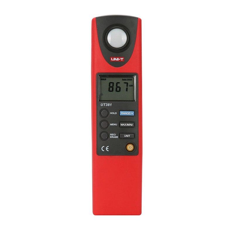 UNI-T UT381 Digital Professional Photometer Illuminance Measurement LCD Auto Range LUX/FC Luminometer Lux Meter top quality free shipping uni t c handeld lcd luminometer illuminometer lux meter tester