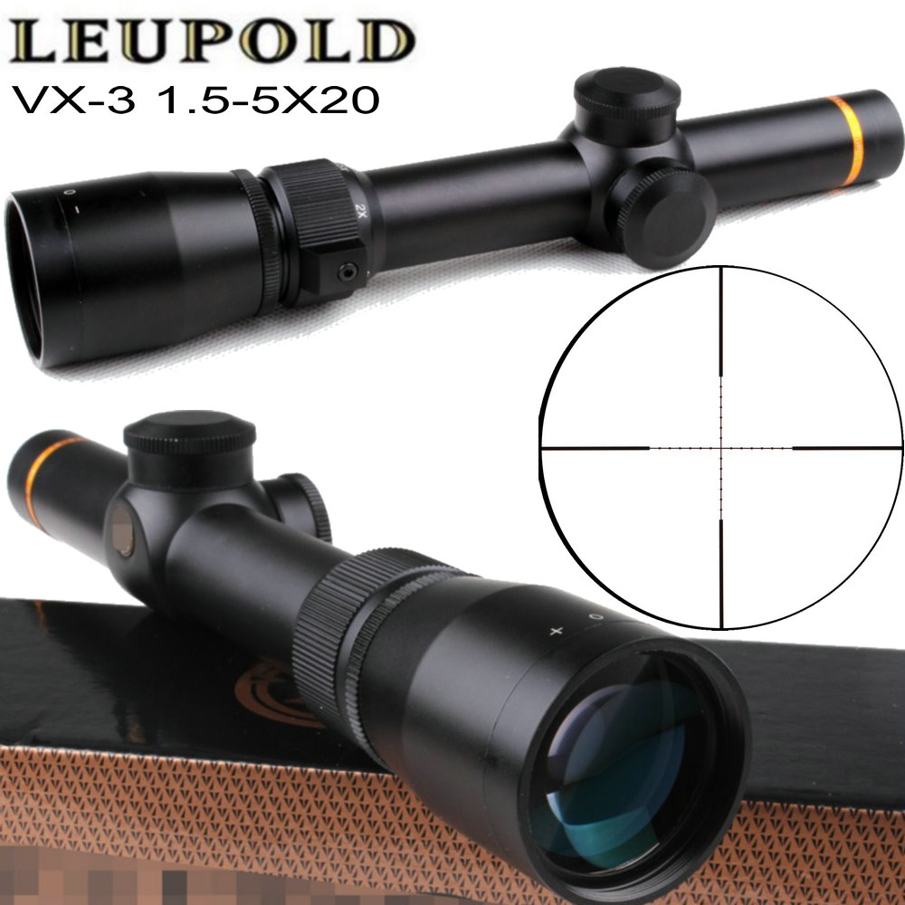 Tactical Optical Sight Leupold VX-3 1.5-5X20 Mil Dot Rifle Scope Optics Wide Angle Matte Hunting Trail Riflescope tactial qd release rifle scope 3 9x32 1maol mil dot hunting riflescope with sun shade tactical optical sight tube equipment