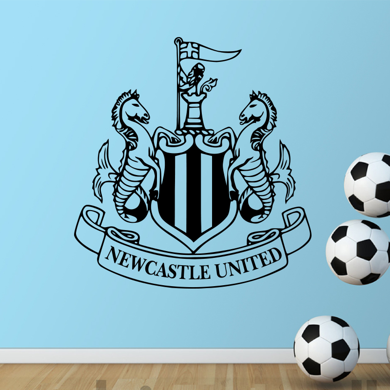 Garden Decor Newcastle: New Castle United ∞ Badge Badge Wall Sticker Vinyl