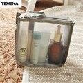 TEMENA Cosmetic Bag Storage Case Holder Zipper Portable Travel Make Up Storage Bag Cosmet trousse de toilette BCB612B