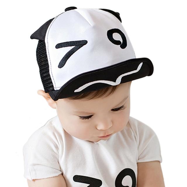 Bebé sombrero para niños niño niña gorra de béisbol Ojos orejas ...
