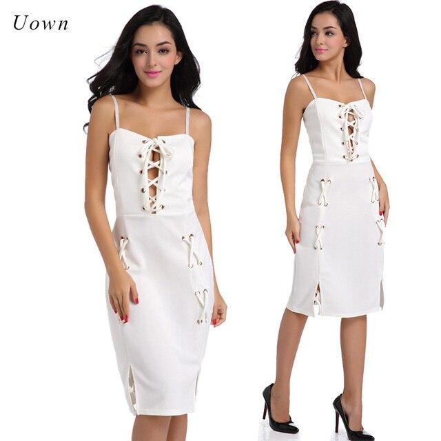 White eyelet summer dresses women