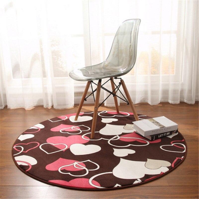 @1  Простой круглый ковер спальня журнальный столик гостиная тумбочка коралловый бархат круглый коврик д ①