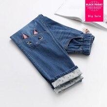 Японские туфли в стиле Mori girl, весенняя одежда с героями мультфильмов; джинсы с вышивкой брюки женский стиль колледжа милые мягкие повседневные Прямые джинсы L278