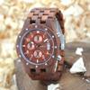 BEWELL Hot Sell Watch Men Quartz Wristwatch Natural Wood Watches Luxury Top Brand Wrist Watch Three