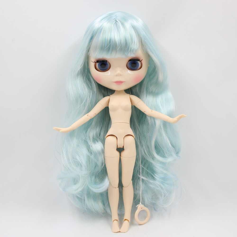 Фабрика blyth кукла 1/6 bjd шарнир тела белая кожа 30 см 280BL288/6005 синий микс мята кукла без одежды