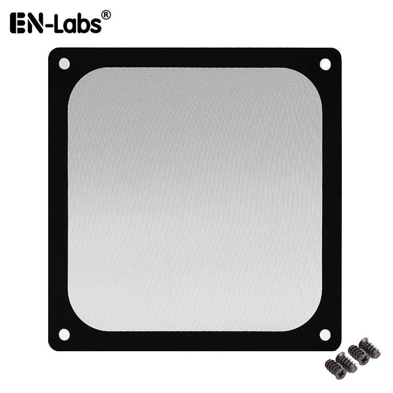 En Labs 12 Cm Magnetic Bingkai Hitam Mesh Filter Debu PC Cooler Fan Filter dengan Magnet, 120X120 Mm Dustproof Case Komputer Cover