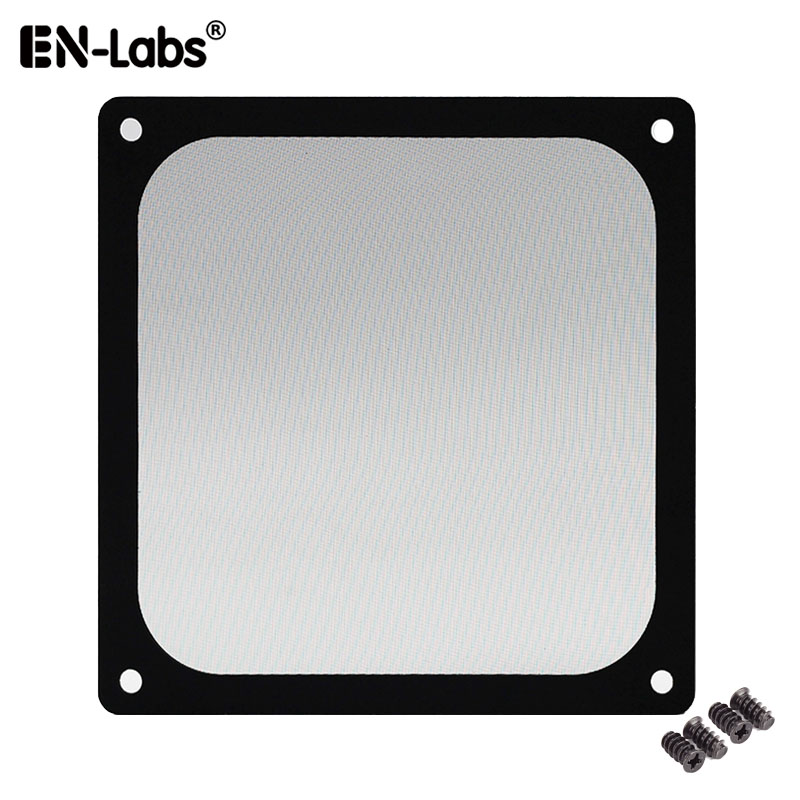 En-Labs 12CM Magnetic Frame Black Mesh Dust Filter PC Cooler Fan Filter With Magnet , 120x120mm Dustproof Computer Case Cover