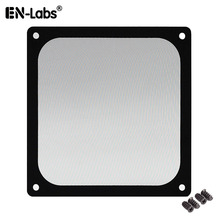 En-Labs 12CM Magnetic Frame Black Mesh Dust Filter PC Cooler Fan with Magnet , 120x120mm Dustproof Computer Case Cover