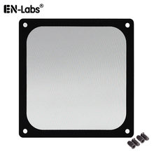 En-Labs 12CM Magnetic Frame Black Mesh Dust Filter PC Cooler Fan Filter with Magnet , 120x120mm Dustproof Computer Case Cover(China)
