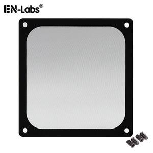 Image 1 - En Labs 12CM Magnetic Frame Black Mesh Dust Filter PC Cooler Fan Filter with Magnet , 120x120mm Dustproof Computer Case Cover