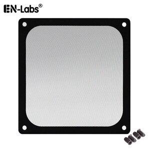 En-Labs 12CM Magnetic Frame Black Mesh Dust Filter PC Cooler Fan Filter with Magnet , 120x120mm Dustproof Computer Case Cover(China)