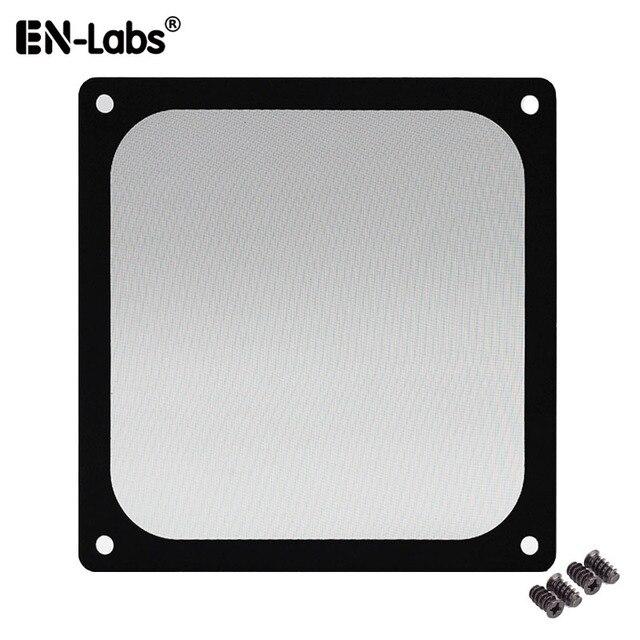 En Labs 12CM Magnetic Frame Black Mesh Dust Filter PC Cooler Fan Filter with Magnet , 120x120mm Dustproof Computer Case Cover