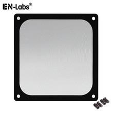 En labs filtro magnético de malha preta, 12cm para filtro de poeira para pc cooler com ímã, capa anti poeira do computador 120x120mm,