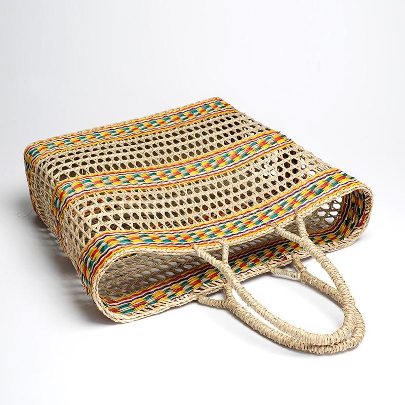 OrangLeaf Summer Ladies Out Braided Tote Beach bag Handmade Straw Rattan wicker Bag Bucket Travel bags for women 2018 holiday