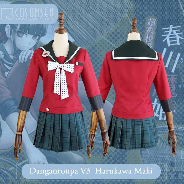 COSPLAYONSEN New DanganRonpa V3 Harukawa Maki Dangan Ronpa V3 Halloween  Cosplay Costume Full Set Women Dress 6a49f10679a6