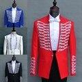 ( chaqueta + pantalones ) 2015 nueva moda palacio real hombres se adapta a male cantante de baile de disfraces de ropa trajes de boda formal vestido prendas de vestir exteriores