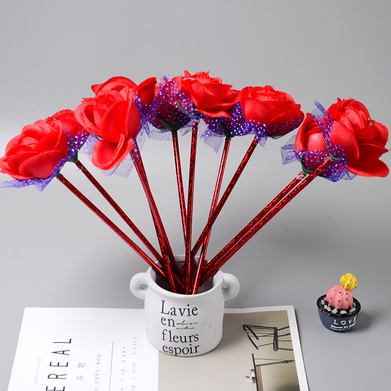 E15 Lovely Roses Creative Ballpoint Pen Stationery Gifts For Children Prize Pupils ...