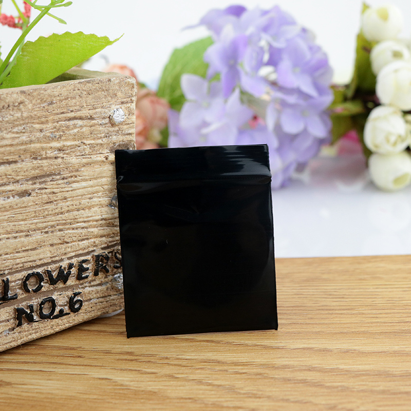Plastic Bags 7x10cm Black Jewelry Ziplock Zip Zipped Lock Reclosable Poly Packaging Thick 0 2mm Accessories Bag In Display