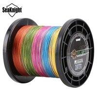 Seaknight 1000 m 멀티 컬러 10 미터/색상 슈퍼 pe 꼰 낚시 라인 8 가닥 짜다 multifilament 낚시 와이어 20-100lb