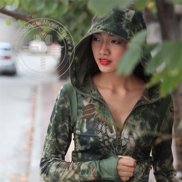 Kryptek typhon camo žene hoodie, lova brzo suha djevojka, taktička - Sportska odjeća i pribor - Foto 2